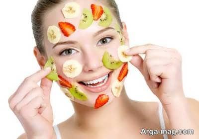 ماسک توت فرنگی و کیوی