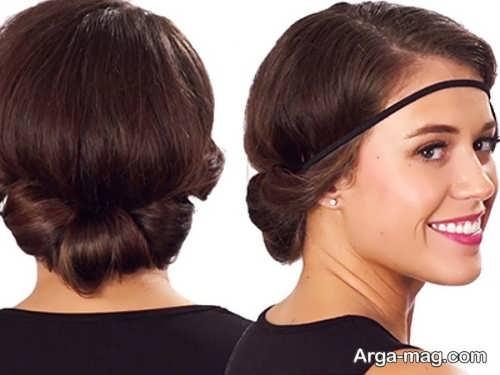 آرایش مو رومی ساده