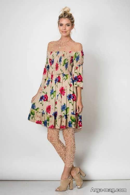 Short dress model with Rayon fabric 1 - مدل لباس کوتاه با پارچه ریون مجلسی برای خانم های خوش پوش