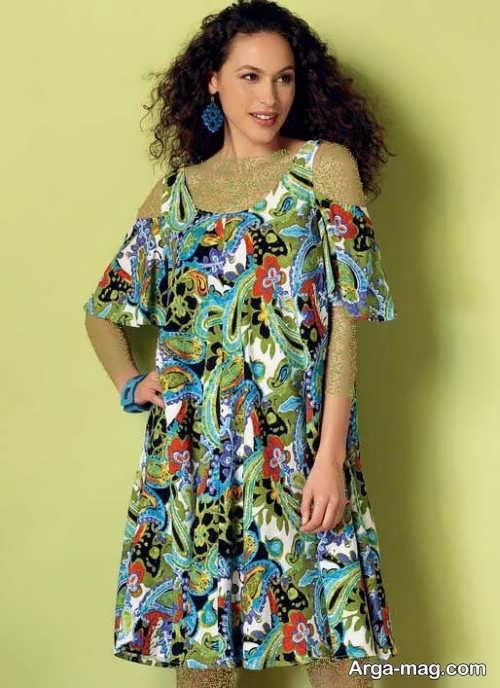 Short dress model with Rayon fabric 10 - مدل لباس کوتاه با پارچه ریون مجلسی برای خانم های خوش پوش