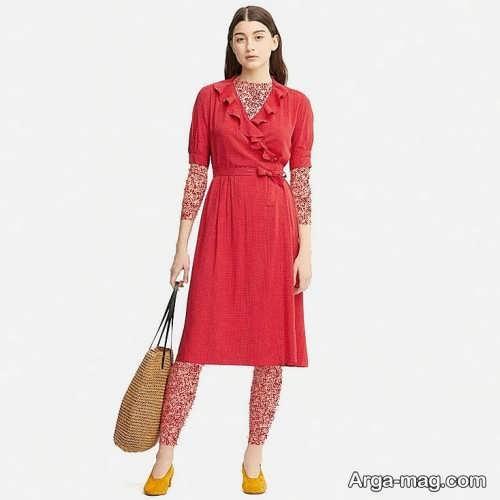 Short dress model with Rayon fabric 11 - مدل لباس کوتاه با پارچه ریون مجلسی برای خانم های خوش پوش