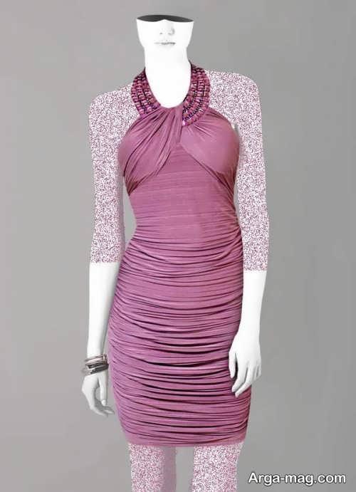 Short dress model with Rayon fabric 12 - مدل لباس کوتاه با پارچه ریون مجلسی برای خانم های خوش پوش