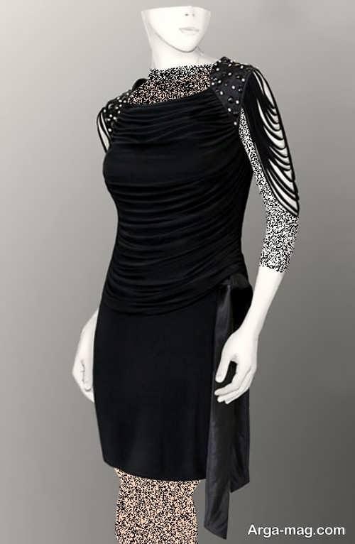 Short dress model with Rayon fabric 13 - مدل لباس کوتاه با پارچه ریون مجلسی برای خانم های خوش پوش