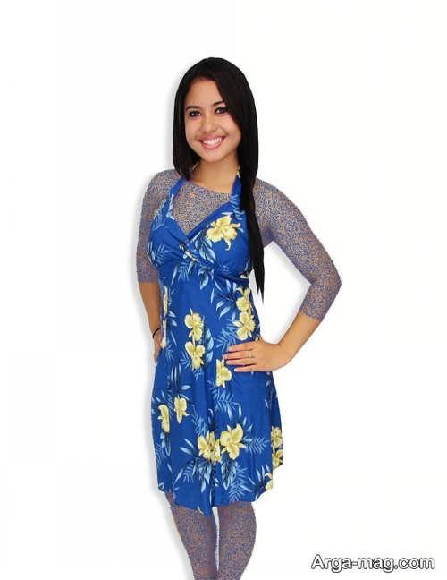 Short dress model with Rayon fabric 17 - مدل لباس کوتاه با پارچه ریون مجلسی برای خانم های خوش پوش