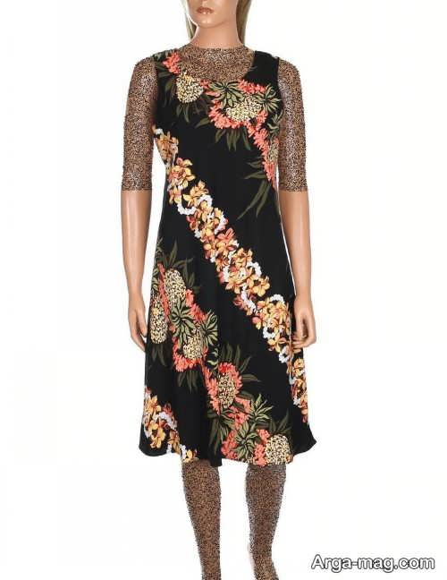 Short dress model with Rayon fabric 18 - مدل لباس کوتاه با پارچه ریون مجلسی برای خانم های خوش پوش