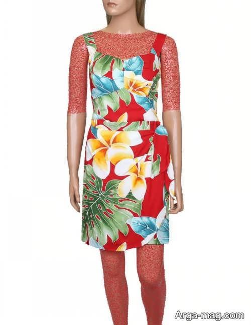 Short dress model with Rayon fabric 19 - مدل لباس کوتاه با پارچه ریون مجلسی برای خانم های خوش پوش