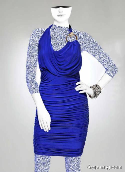 Short dress model with Rayon fabric 2 - مدل لباس کوتاه با پارچه ریون مجلسی برای خانم های خوش پوش
