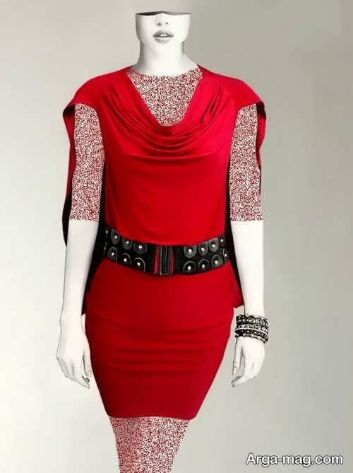 Short dress model with Rayon fabric 21 - مدل لباس کوتاه با پارچه ریون مجلسی برای خانم های خوش پوش