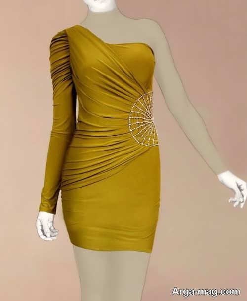 Short dress model with Rayon fabric 22 - مدل لباس کوتاه با پارچه ریون مجلسی برای خانم های خوش پوش