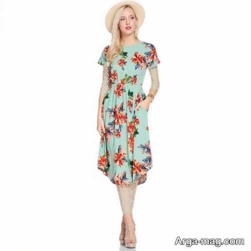Short dress model with Rayon fabric 3 - مدل لباس کوتاه با پارچه ریون مجلسی برای خانم های خوش پوش