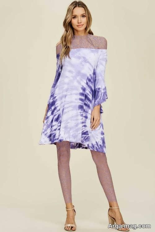 Short dress model with Rayon fabric 6 - مدل لباس کوتاه با پارچه ریون مجلسی برای خانم های خوش پوش