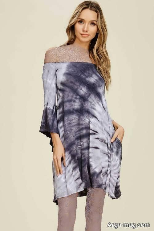 Short dress model with Rayon fabric 7 - مدل لباس کوتاه با پارچه ریون مجلسی برای خانم های خوش پوش