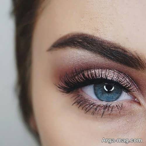 مدل آرایش چشم دخترانه ساده و زیبا