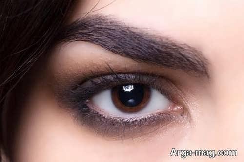 مدل میکاپ چشم دخترانه ساده