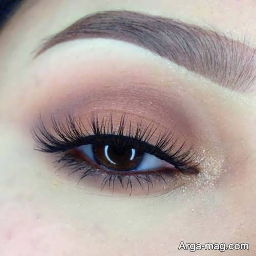مدل آرایش چشم طبیعی و ساده