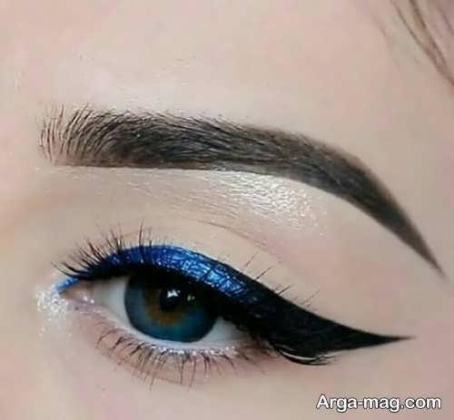 مدل آرایش چشم ساده دخترانه