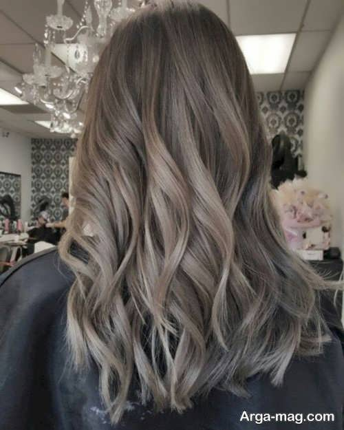 رنگ موی شیک و بی نظیر قهوه ای دودی