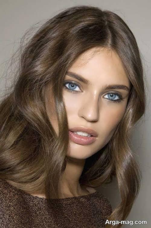 رنگ موی دخترانه قهوه ای دودی