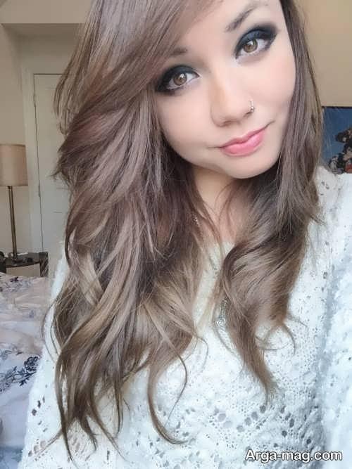 Smoky brown hair color 9 - فرمول ترکیب رنگ موی قهوه ای دودی و نکاتی که باید بدانید