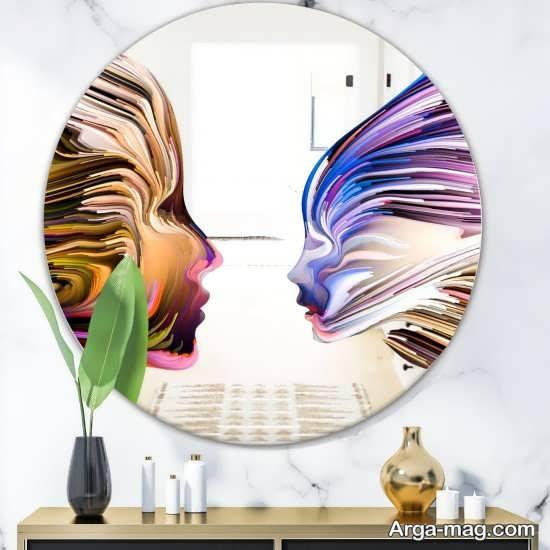 ایده نقاشی روی آینه