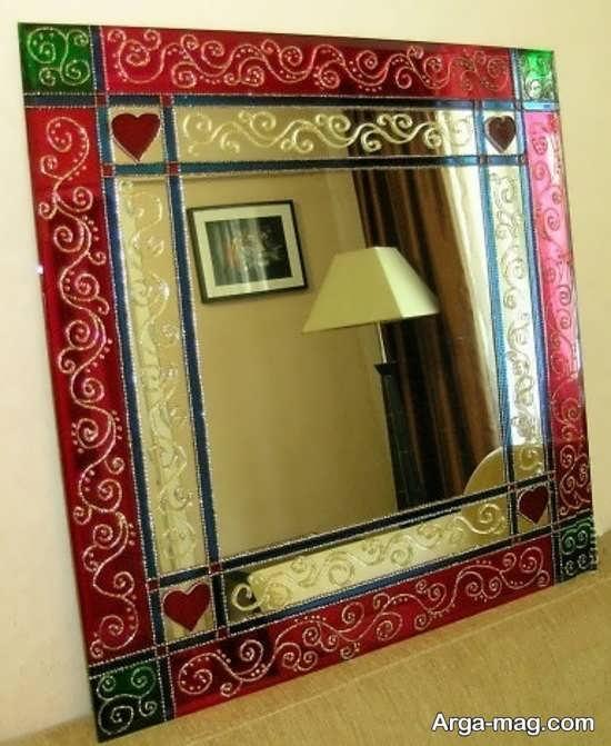 مدل نقاشی روی آینه