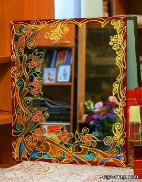 نقاشی جدید روی آینه