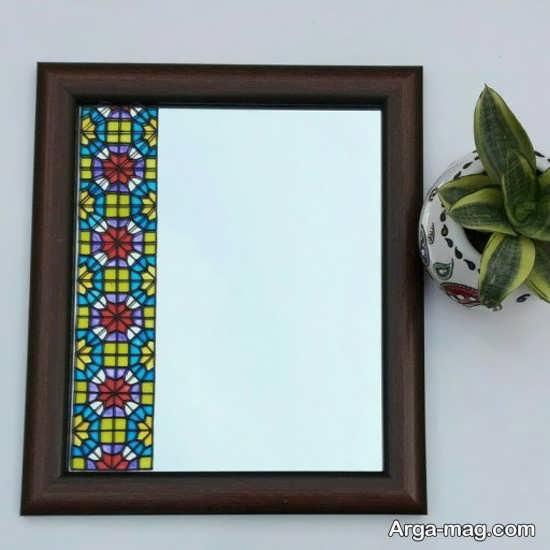 نقاشی روی آینه منزل
