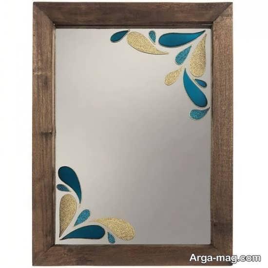 نقاشی ساده روی آینه
