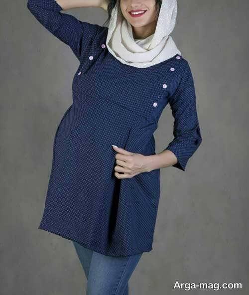 مدل مانتو کوتاه و شیک بارداری