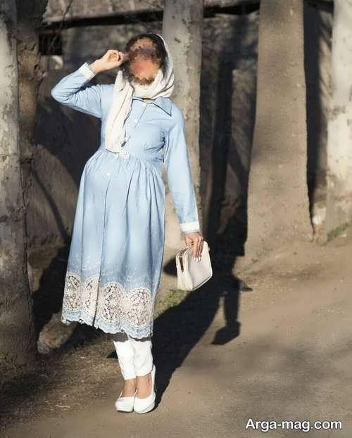 مدل مانتو بلند تابستانه بارداری