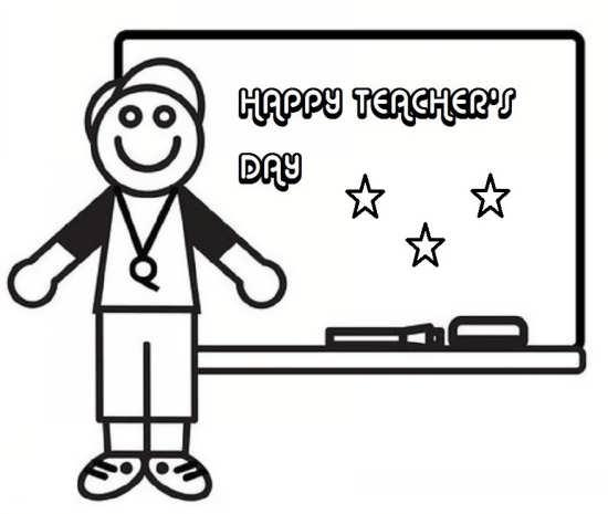 نقاشی کودکانه و زیبا روز معلم