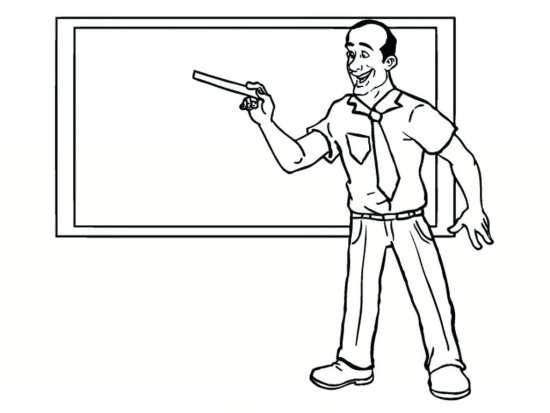 نقاشی ساده و جذاب برای روز معلم