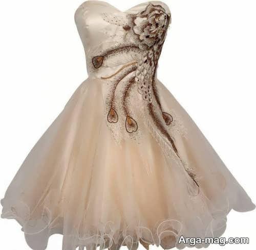 مدل لباس عروسکی کار شده