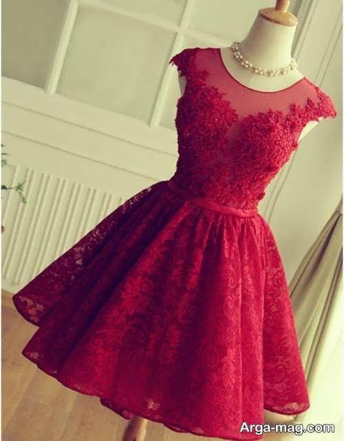 مدل لباس مجلسی قرمز عروسکی