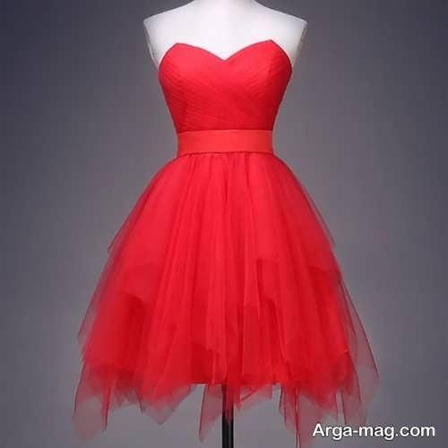 مدل لباس عروسکی قرمز و زیبا