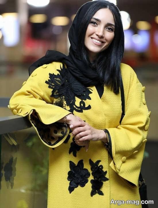 مدل مانتو خاطره اسدی در جشنواره فجر