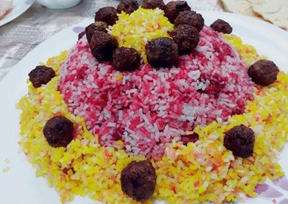طرز تهیه آلبالو پلو با گوشت