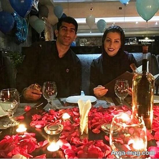 alirezabeyranvand - دروازه بان قرمز پوش های پایتخت در کنار همسرش