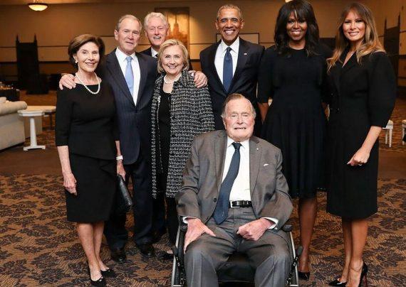 سران آمریکا و همسرانشان در یک قاب