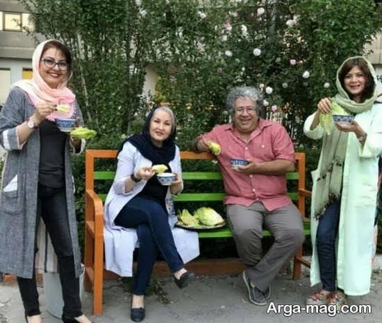 آناهیتا همتی و خانواده در سیزده بدر