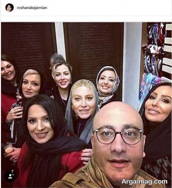 عارف لرستانی در کنار بازیگران زن