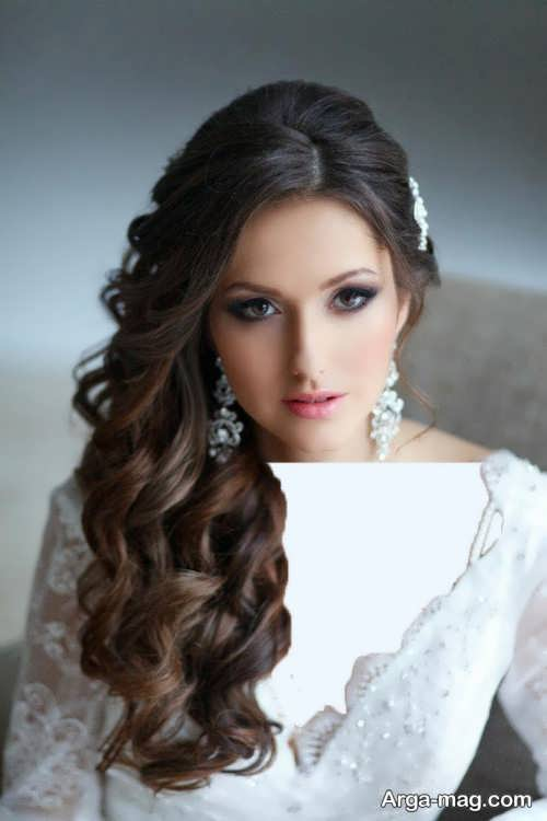 مدل موی عروس برای صورت کشیده