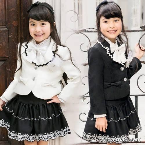 مدل کت و دامن کره ای بچه گانه