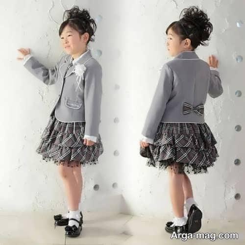 children skirt and coat model 15 - مدل کت و دامن بچه گانه برای دختر بچه های خوش پوش