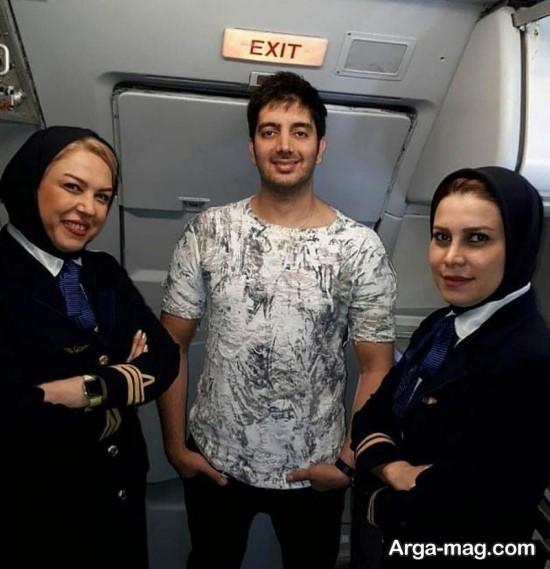 فرزاد فرزین در هواپیما
