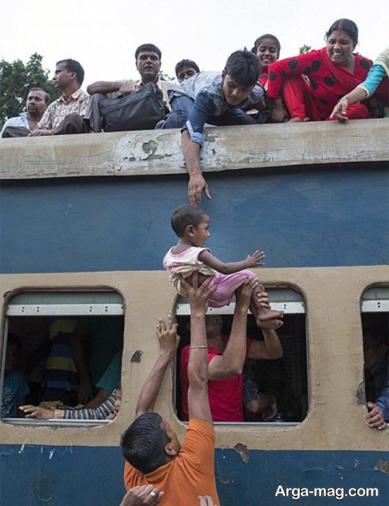 قطاری عجیب در بنگلادش