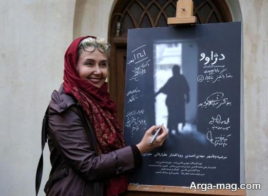 katayoun riahi 3 - عکس های منتشر شده از کتایون ریاحی در موزه سینما تهران