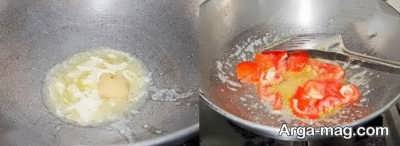سرخ کردن گوجه