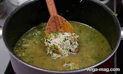 اضافه کردن شوید به برنج