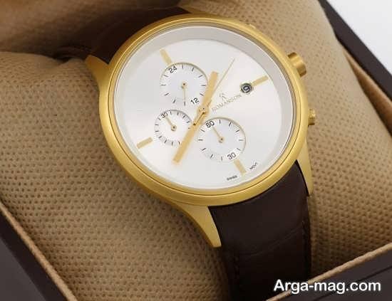 مدل ساعت طلایی مردانه
